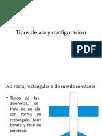 Tipos de ala y configuración