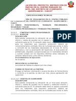 2.0 ESPECIFICACIONES TECNICAS - escalinatas