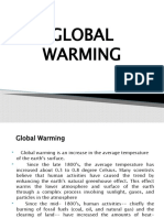 GLOBAL WARMING powerpoint group5