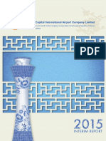 2015 Beijing Airport Interim Report