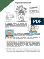 Por qué mejorar la memoria (1)