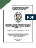 PROPUESTA DE UN SISTEMA DE AUTOMATIZACION PARA LA REDUCCION DE PERDIDAS EN LA PRODUCCION DE LA MAQUINA EXTRUSORA LAMINADO~1