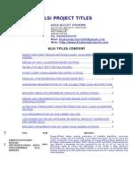 VLSI Projects[1]
