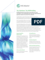 Tax Withholding Factsheet