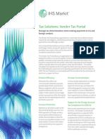 Vendor Tax Portal Factsheet
