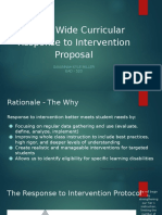 school wide curricular response to intervention proposal  2
