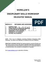 Disciplinary Skills Sample