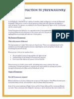 an introduction to freemasonry