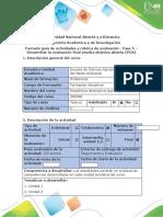 Guía de actividades  Fase 5. para entregar estadistica descriptiva
