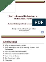 Reservations Declarations