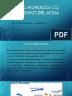 Ciclo hidrológico, consumo del agua