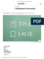 1 The Minnesota Multiphasic Personality Inventory (MMPI)