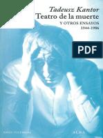 Tadeusz Kantor - Teatro de la muerte y otros ensayos (0, Alba).pdf