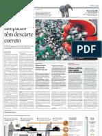 Jornal O Estado de S. Paulo - Caderno Vida - Reciclagem de Lâmpadas Fluorescentes - 20101229