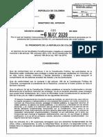 Decreto 636 Del 6 de Mayo de 2020