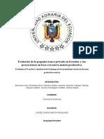 Evolución de La Pequeña Banca Privada en Ecuador y Sus Proyecciones en Base a La Nueva Matriz Productiva