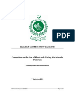 Pakistan Final Report of the Committee on the Use