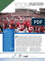 football sports nutrition fact sheet web version