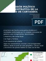División político administrativa de la ciudad de Cartagena