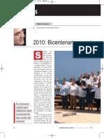 Bicentenarios y Aniversarios - Julio 2010