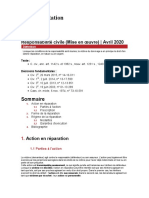 Fiche d'orientation - Responsabilité civile (Mise en œuvre)