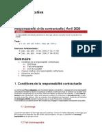 Fiche d'orientation - Responsabilité civile contractuelle