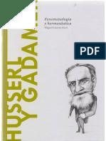 Husserl y Gadamer. Fenomenología y hermenéutica