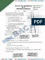 Devoir Synthése N°1 avec correction - Mathematique - bac science -Lycée hedi Chaker sfax - 2015-2016.125