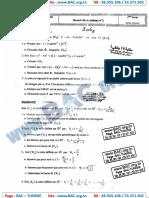 Devoir Synthése N°1 avec correction - Mathematique - bac science -Lycée Majida Boulila SFax - 12-12-2014