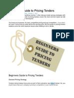 Beginners Guide to Pricing Tenders