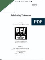 PFI ES-3-1981 (R1994) Fabricating Tolerances