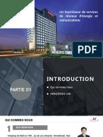 HENGTONG Présentation 2019 Français
