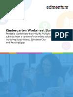 Kindergarten Worksheet Bundle