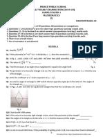 CBSE Class 9th Maths mid term sample paper-1(PPS)2019-20