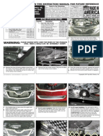 10 Up Toyota Camry Grille Installation Manual Carid