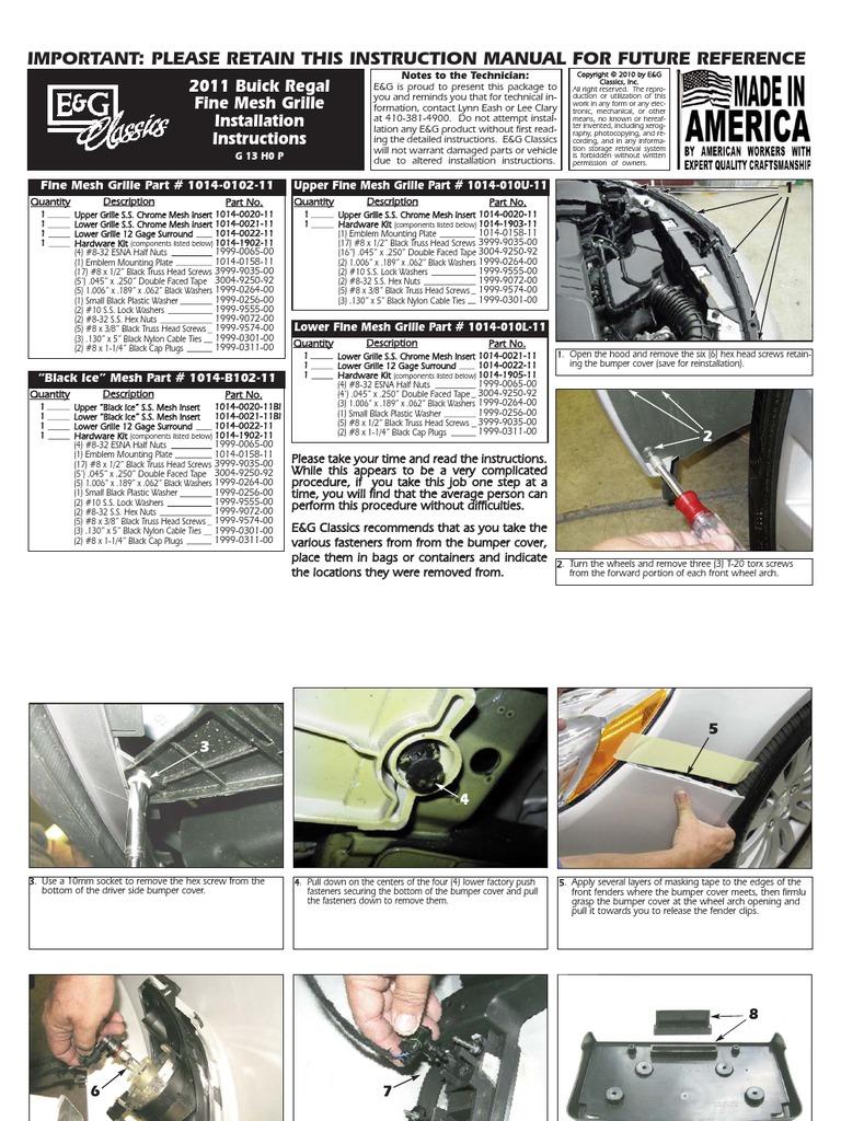Radio Installation Guide Buick Regal Manual Guide