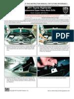 11 Up Toyota Highlander Grille Installation Manual Carid