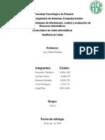 Taller 3 Auditoria de Redes Universidad Tecnologica