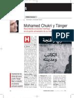 Mohamed Chukri y Tánger