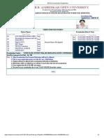 BRAOU Examination Registration-III SEM