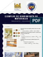 Ejemplos de rendimiento de materiales(C)