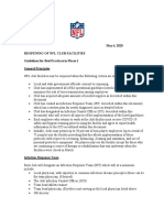 NFL Club Facility Reopening Protocols