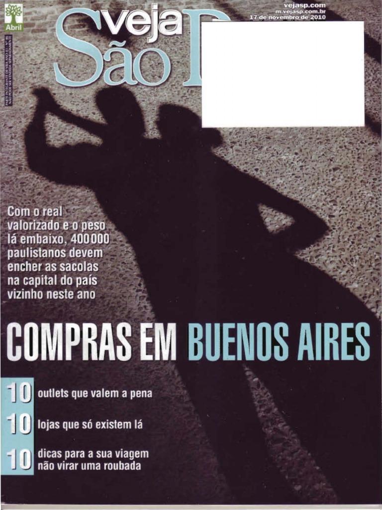 1a5a4f23fb9 Revista Veja São Paulo - 17 11 2010 - Compras em Buenos Aires