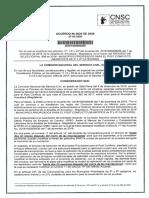 Acuerdo Modificatorio No. CNSC 0020