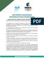 Informe Plenarios Departamentales 5 de Mayo Azul Naranja y La Celeste