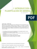 INTRODUCCION A PLANIFICACION MINERA