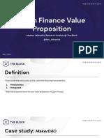 Open Finance Value Proposition