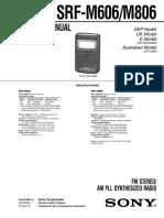 Manual servicio radio sony_srf-m606_m806
