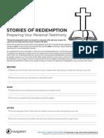Preparing Your Personal Testimony