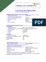 HOJA DE SEGURIDAD _Hawker_25EC